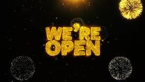 Somos tarjeta de felicitaciones abierta de los deseos, invitación, fuego artificial de la celebración colocado