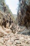 Somoto canyon in dry season, Nicarag. Ua royalty free stock image
