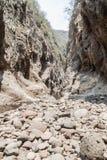 Somoto canyon in dry season, Nicarag. Ua royalty free stock images