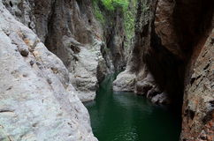 Somoto Canyon. Inside the Somoto Canyon near the border of Honduras in Nicaragua royalty free stock photo