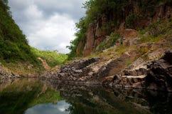 Somoto Canyon. Reflections in Somoto Canyon, Nicaragua stock photos
