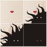 Soms is de liefde een monster. Royalty-vrije Stock Fotografie