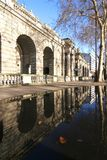 Somserset House. London: arches of Somerset House and reflections in autumn stock photography