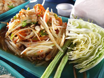 Somtam. Is Thailand food it's make from papaya Stock Photography