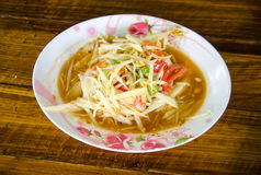 SOMTAM. Delicious Thai food call SOMTAM from papaya and spicy ingredient Stock Photography
