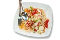 Somtam, Green papaya salad. Thai cuisine Stock Images