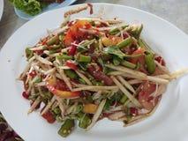 Somtam oder Papayasalat, thailändisches Lebensmittel Lizenzfreie Stockfotos