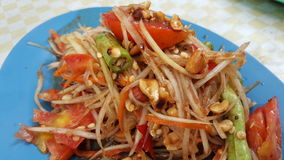Somtam. Papaya salad Thai food style Stock Photos