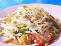Somtam (Papaya Salad). Traditional Thai food Royalty Free Stock Image