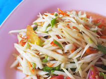 Somtam (Papaya Salad). Traditional Thai food stock photography