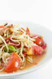 Somtam, salada tailandesa da papaia Imagem de Stock