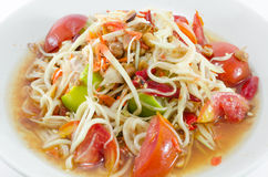 Somtam, salada tailandesa da papaia Foto de Stock