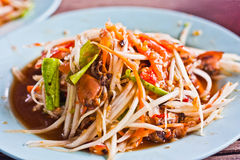 Somtam-Thaifoods Stock Photos