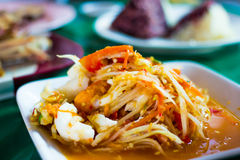 Somtam Thailand. Hot and spicy Papaya salad in Thailand Royalty Free Stock Photo