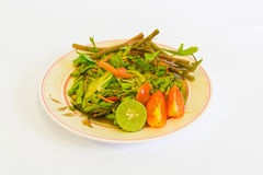 Somtam Thais kruidig voedsel Stock Foto's