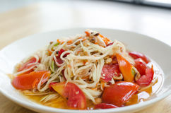 Somtam, Thaise Papajasalade Stock Foto