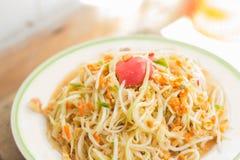 Somtam - Tradycyjny Tajlandzki jedzenie Fotografia Stock
