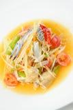 Somtam vert de salade de papaye photographie stock libre de droits