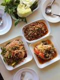 Somtum é alimento tailandês famoso, slad picante da papaia Imagens de Stock