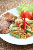 somtum Ταϊλανδός τροφίμων Στοκ εικόνες με δικαίωμα ελεύθερης χρήσης