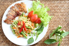 somtum еды тайское Стоковые Фотографии RF