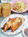 Somtum & grilla kurczak, Zdjęcia Stock