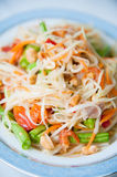 Somtum : Delicious and tradition Thai foods Royalty Free Stock Photos