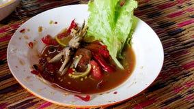 Somtum es una comida tailandesa imagenes de archivo