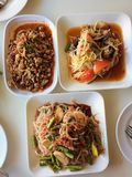 Somtum is famous Thai food, papaya spicy slad. Northeast food, Thai cuisine Stock Photography