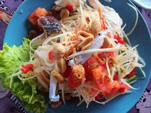 Somtum is famous Thai food. With copy space and used for everything if you want Stock Image