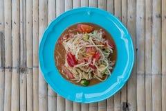 Somtum. Is favorite thai food stock images