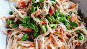 Somtum Flavor Thailand ส้มตำ. Somtum flavor Thailand is a favorite dish of Thai people and foreigners like it as well royalty free stock photos