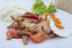 Green papaya salad, Thai spicy food Royalty Free Stock Image