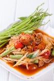 Somtum Hoi Dong, melonowa sałatkowy wyśmienicie jedzenie w Thailand Fotografia Royalty Free