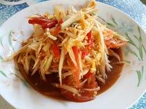 Somtum. Hot spicy papaya salad Stock Image
