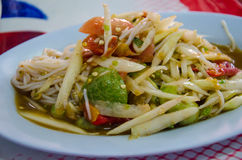 Somtum with kanomjeen. Or payaya salad Stock Images