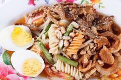 Somtum, mieszanka melonowa sałatkowy wyśmienicie jedzenie w Thailand Obrazy Royalty Free