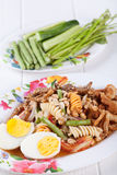 Somtum, Mix papaya salad delicious food in thailand.  Stock Photography