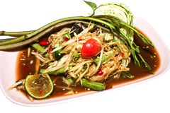 Somtum the no.1 thai food Stock Image