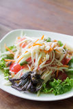 Somtum, papaya salad delicious food in thailand Stock Images