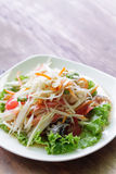 Somtum, papaya salad delicious food in thailand.  Royalty Free Stock Photography