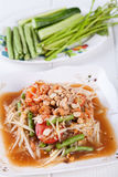 Somtum, papaya salad delicious food in thailand.  stock images