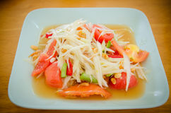 Somtum, papaya salad delicious food. In thailand,Close-up Royalty Free Stock Photography