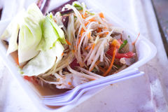Somtum/papaya salad. /focus center Stock Photography