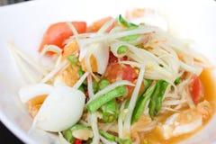 Somtum Tajlandzki jedzenie i korzenny jedzenie Zdjęcie Royalty Free