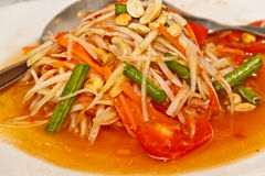 Somtum - Thai Green papaya salad Royalty Free Stock Images