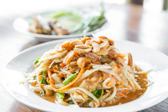 Somtum ,Thai spicy papaya salad ,erve Royalty Free Stock Photography