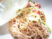 Somtum thaifood Royaltyfria Bilder