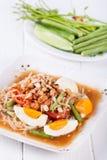 Somtum (tum tajlandzki), melonowa sałatkowy wyśmienicie jedzenie w Thailand Fotografia Royalty Free