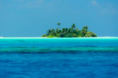 Somwhere in the Maledives. A small island somewhere in the Maldives Royalty Free Stock Photo